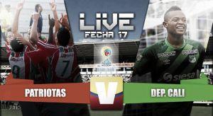Resultado Patriotas FC vs Deportivo Cali en Liga Águila 2015-II (2-1)