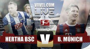 Bayern de Múnich vs Hertha de Berlín 2015 en vivo y directo online en la Bundesliga (1-0)