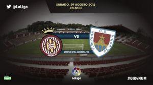 Resultado del Girona - Numancia en Liga Adelante 2015 (2-3)