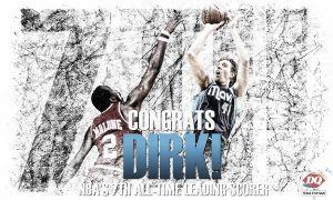 Dirk Nowitzki suma y sigue en la lista de anotadores