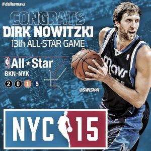 Dirk Nowitzki reemplaza a Anthony Davis en el All-Star Game