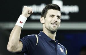 Sigue el ritmo ascendente de Novak Djokovic