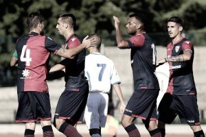 Cagliari: si rivede van der Wiel. Scatenato Farias in partitella
