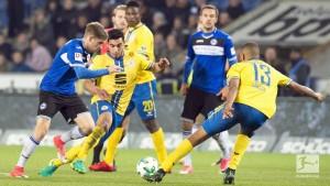 Arminia Bielefeld 2-2 Eintracht Braunschweig: Leandro Putaro condemns Lions to yet another draw