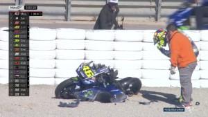 MotoGP, Test Valencia - Paura Rossi: gran botto, ma rider illeso
