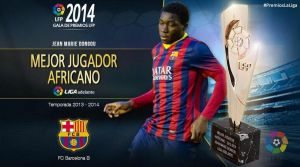 Dongou, mejor jugador africano de la Liga Adelante durante la temporada 2013/2014