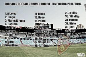 El Zaragoza publica la lista definitiva de dorsales para esta temporada
