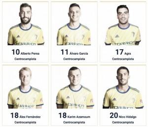 Ya se conocen los dorsales del Cádiz CF