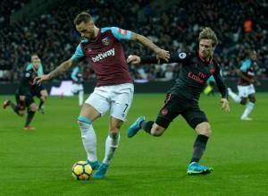 Premier League - L'Arsenal sbatte sul muro del West Ham (0-0)
