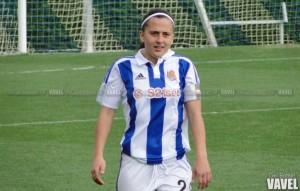 Aintzane Encinas, autora del mejor gol realista en Zubieta de la temporada
