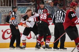 Arizona Coyotes faced tough Pacific Division Anaheim Ducks in pre-sesaon contest