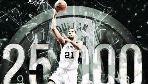 Tim Duncan sigue haciendo magia y llega a los 25.000 puntos