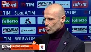 """Fiorentina, Murelli (vice Pioli) a fine partita: """"Oggi volevamo vincere a tutti i costi"""""""