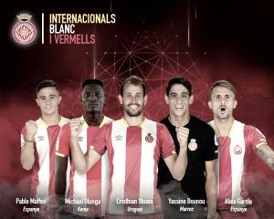 Los internacionales del Girona no suman minutos