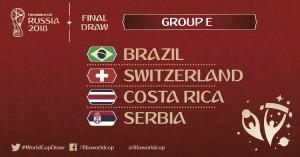 Análise Grupo E: Brasil favoritaestreia diante da Suíça em chave com Costa Rica e Sérvia