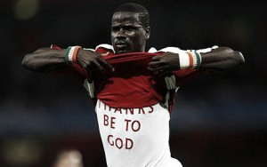 Emmanuel Eboue training with Sunderland as he searches for a new club