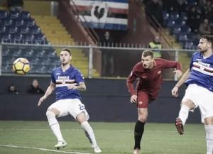 Dzeko marca nos acréscimos, Roma arranca empate com Sampdoria e amplia má fase