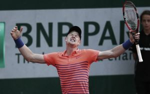 French Open: Kyle Edmund beats Stephane Robert in thrilling encounter
