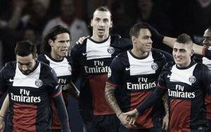 El PSG celebra el primer puesto en el partido 100 de Ibrahimovic
