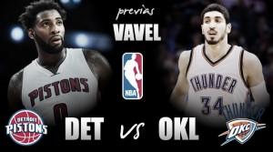 Previa Pistons - Thunder: Seguir siendo los únicos invictos en casa