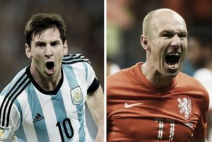 Lionel Messi contre Arjen Robben
