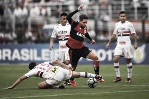 São Paulo supera Flamengo e respira na luta contra o rebaixamento