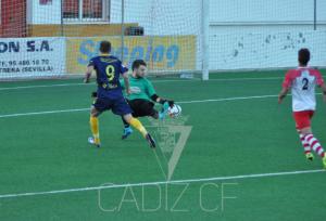 El Cádiz CF se llevó la victoria en el 70 aniversario del CD Utrera