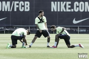 El penúltimo entrenamiento del Barça antes de la final copera