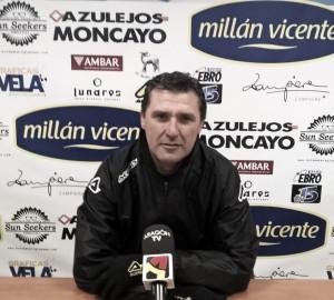 """Emilio Larraz: """"Llegamos al partido con las ideas muy claras"""""""