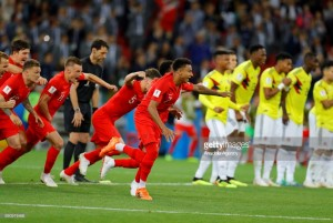 Colombia (3) 1-1 (4) England (AET):  Three Lions banish penalty voodoo to book last-eight spot
