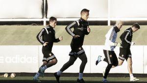 El Valencia vuelve a entrenar con vistas al derbi
