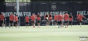 El Barcelona continúa la preparación para la Supercopa