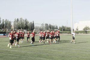 El balón como protagonista en el entrenamiento de la UD Almería