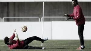 Último entrenamiento de la semana en el Ciudad de Málaga