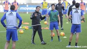 La Real de Eusebio se prepara para el partido contra el Sevilla