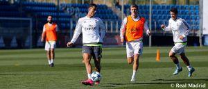 Primera sesión del Real Madrid pensando en la Champions