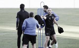 Último entrenamiento en el Ciudad de Málaga antes del Granada CF