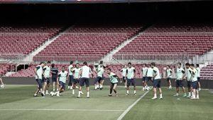 Última sesión en el Camp Nou antes de enfrentarse al Sevilla