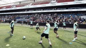 Segundo entrenamiento en Oslo ante 1.500 espectadores