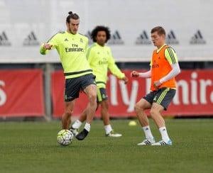 Primer entrenamiento sin Benzema ni Cristiano