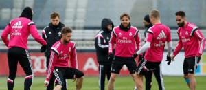 Último entrenamiento del Madrid antes de viajar a Barcelona