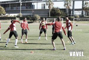 Importante presencia canterana en el segundo entreno del Almería