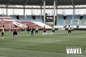 El Almería vuelve a trabajar en doble sesión