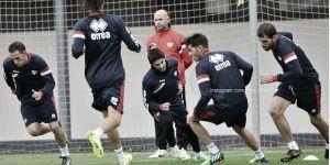 Gélido entrenamiento en Vallecas