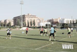 El Almería cierra una intensa jornada de trabajo