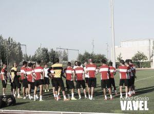 El Almería se entrena con la mente puesta en ganar al Córdoba