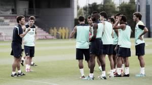Último entrenamiento en Barcelona antes de la Supercopa