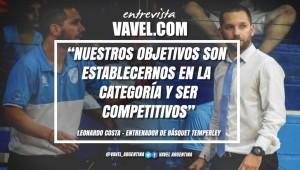 """Entrevista. Leonardo Costa, entrenador del primer equipo de Basquet: """"Tenemos como objetivo principal establecernos en el TNA, ser competitivos y estar a la altura del torneo"""""""