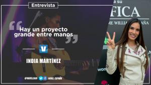 """Entrevista a India Martínez: """"Hay un proyecto grande entre manos"""""""