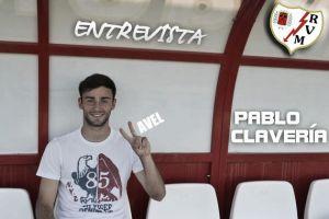 """Entrevista. Pablo Clavería: """"Me gustaría triunfar en el Rayo"""""""